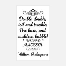 Macbeth Shakespeare Witches Decal