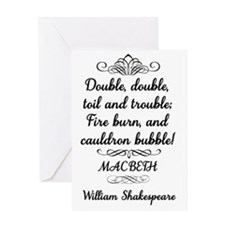 Macbeth Shakespeare Witches Greeting Card