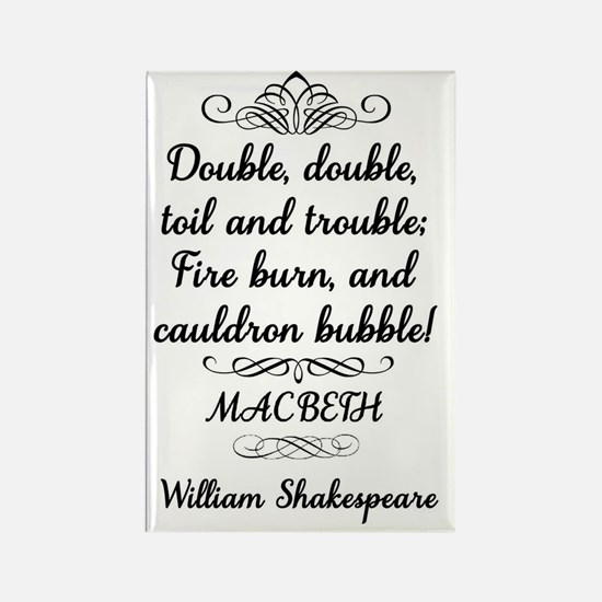 Macbeth Shakespeare Witches Rectangle Magnet