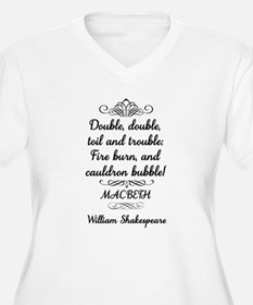 Macbeth Shakespeare Witches Plus Size T-Shirt
