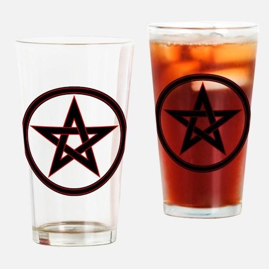 pentacle pentagram Drinking Glass
