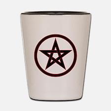 pentacle pentagram Shot Glass