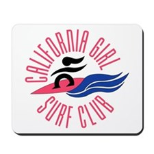 California Girl Surf Club Mousepad