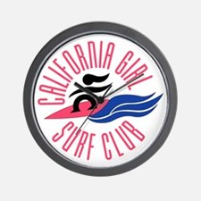 California Girl Surf Club Wall Clock