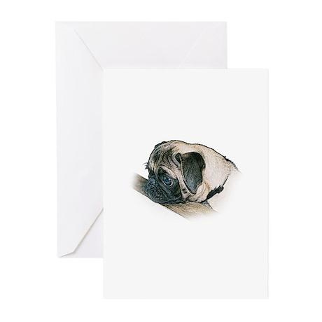 Pug Illustration - Greeting Cards (Pk of 10)