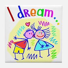 I Dream of Love Tile Coaster