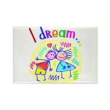 I Dream of Love Rectangle Magnet
