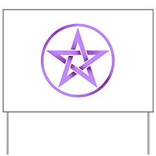 Unique Pentagram Yard Sign