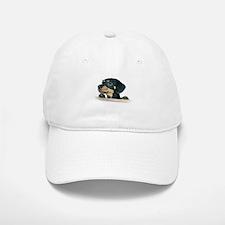 Daschund Illustration - Baseball Baseball Cap