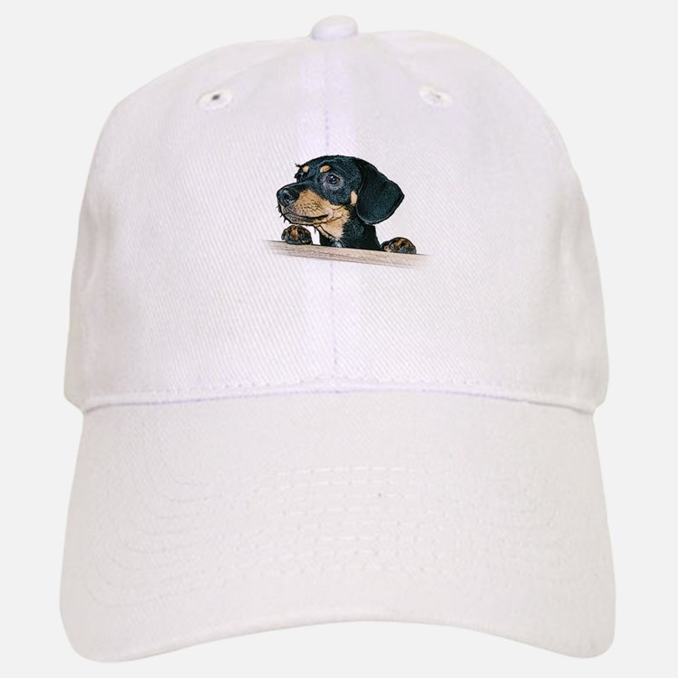 Daschund Illustration - Baseball Baseball Cap