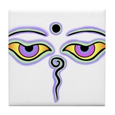 Buddha eyes Tile Coaster