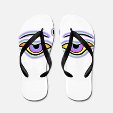 Unique Buddha eyes Flip Flops