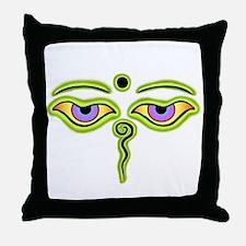 Cool Buddha eyes Throw Pillow