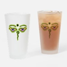 Funny Buddha eyes Drinking Glass