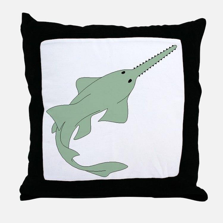 Sawfish Throw Pillow