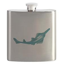 sawfish, saw fish, green, fish, animal Flask