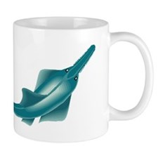 sawfish, saw fish, green, fish, animal Mugs