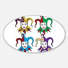 4 Jesters Sticker (Oval)