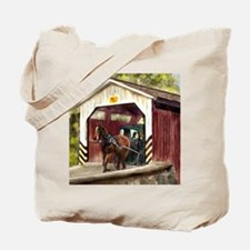 Buggy on Covered Bridge Tote Bag