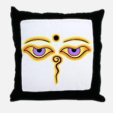 Funny Buddha eyes Throw Pillow