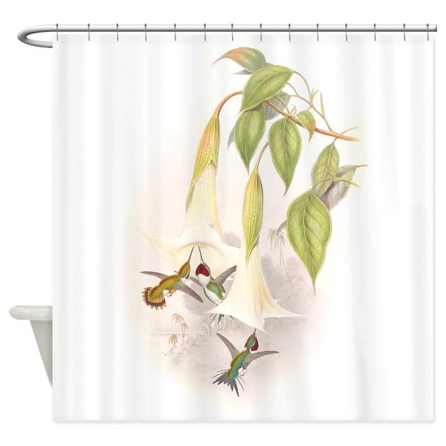 Hummingbirds Shower Curtain By BirdsAnimalsFlowersGalore