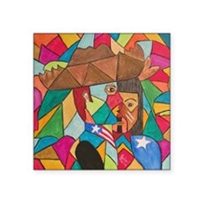 "Jibaro Origin by Julie Cris Square Sticker 3"" x 3"""