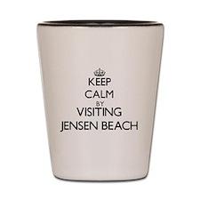Cute Jensen beach florida Shot Glass