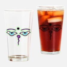 Cool Buddha eyes Drinking Glass