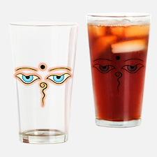 Cute Buddha eyes Drinking Glass