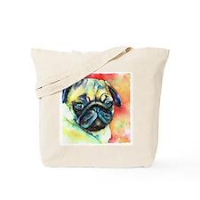 Tan Pug Glamour Tote Bag