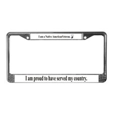Native Veteran License Plate Frame