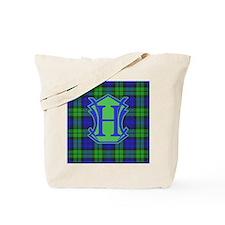 Letter H Classic Tartan Monogram Tote Bag