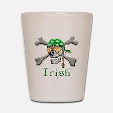 Irish Pirate Scull and Bones Shot Glass
