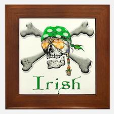 Irish Pirate Scull and Bones Framed Tile