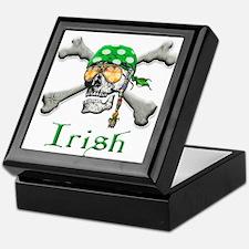 Irish Pirate Scull and Bones Keepsake Box
