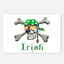 Irish Pirate Scull and Bones Postcards (Package of