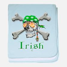 Irish Pirate Scull and Bones baby blanket