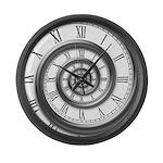 roman spiral Large Wall Clock