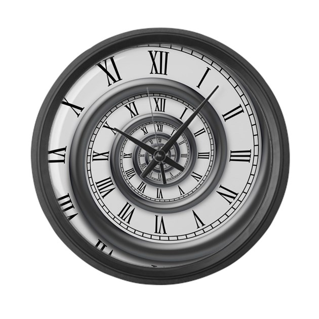 Roman Spiral Large Wall Clock By Vicevoices