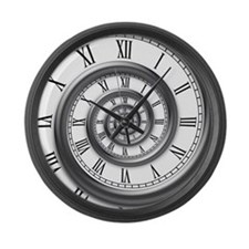 roman spiral Large Wall Clock