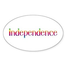 Independence Oval Decal