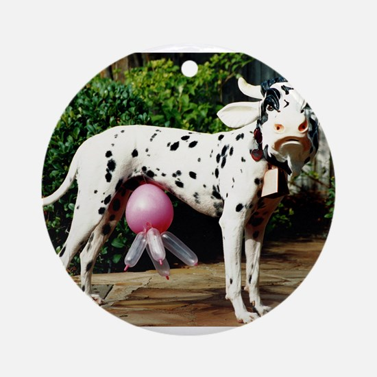 The Dairy Cow Dog Ornament (Round)
