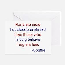 FALSE FREEDOM Greeting Cards (6)