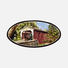 Amish Buggy on Covered Bridge Patches