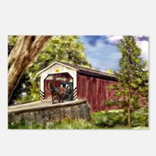 Amish Buggy on Covered Bridge Postcards (Package o