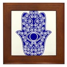 Cute Hamsa Framed Tile