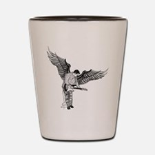 Winged Guitarist Shot Glass