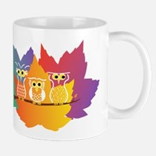 Three Little Autumn Owls Mug