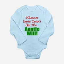 Santa Doesn't Auntie Will Body Suit