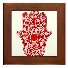 Cool Hamsa Framed Tile